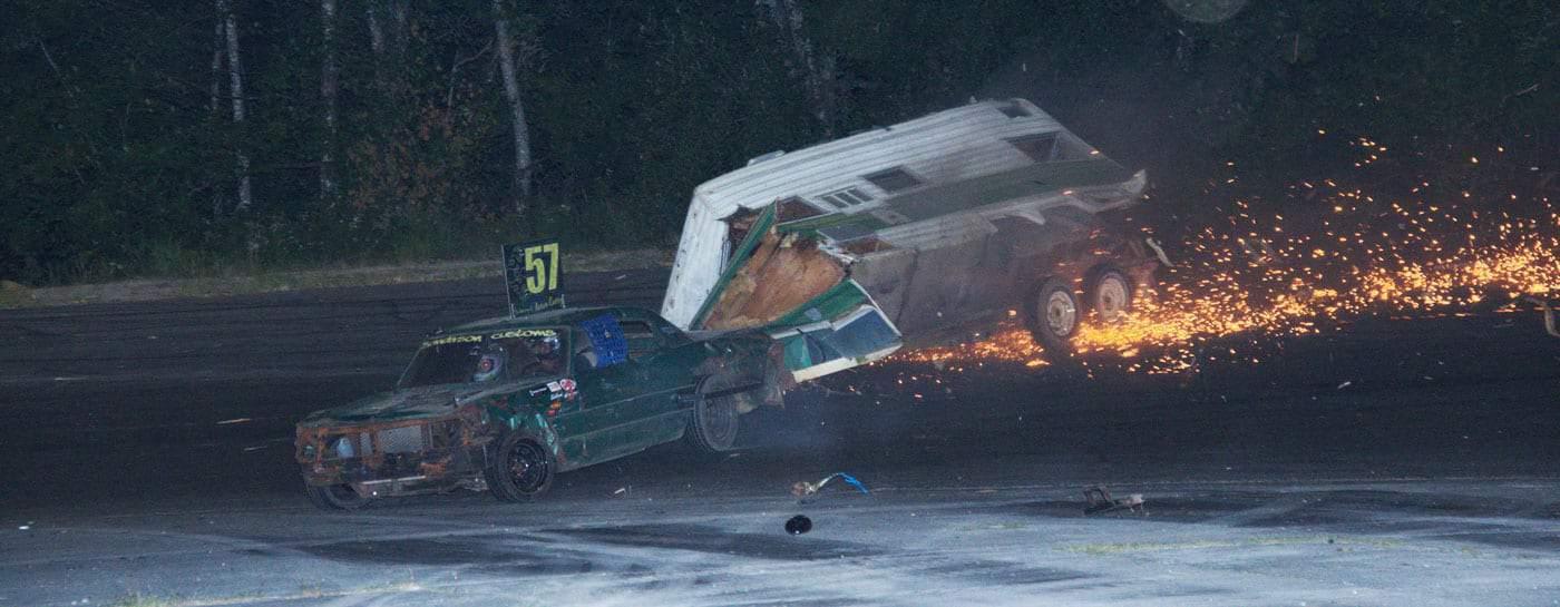 Crash to Pass Travel Trailer Race!